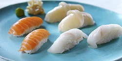 Nigiri sushi med lakse- og kveitefilet. Foto: Studio Dreyer-Hensley / Norwegian Seafood Council